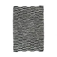 / a.depech NZ wool rug black and white
